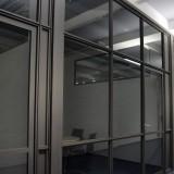 Filigrane Stah, Glas Bürotrennwände
