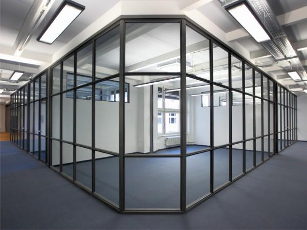 Bürotrennwand glas