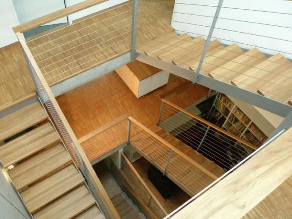 Stahltreppe-in-Wohnung