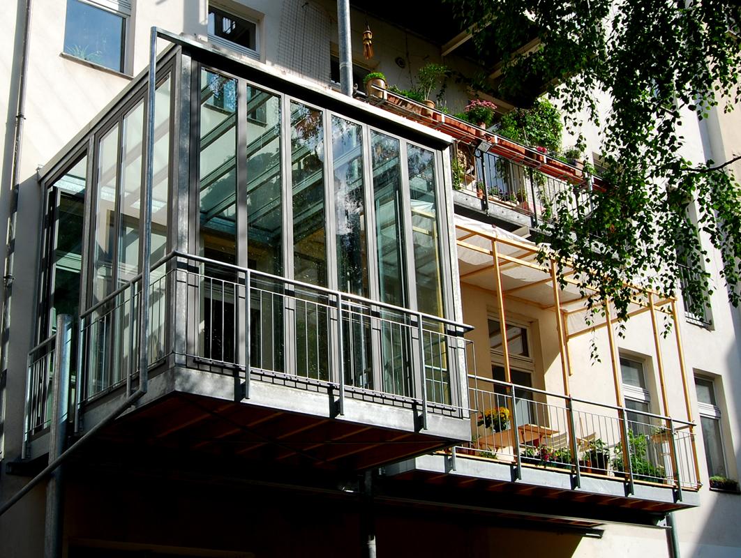 Turbo Balkon mit Wintergarten | Stahlblau VX69