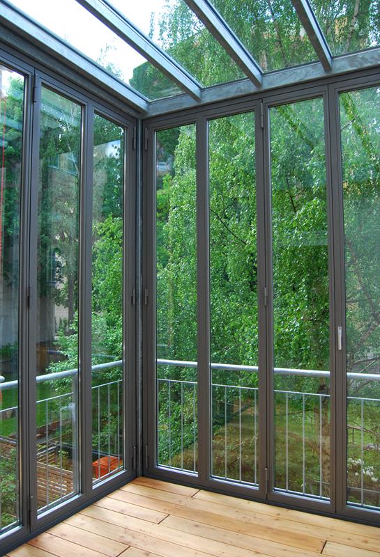 Gut gemocht Balkon mit Wintergarten | Stahlblau RL67