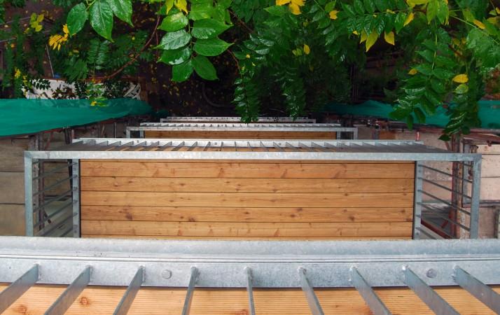Balkon mit entwässerung