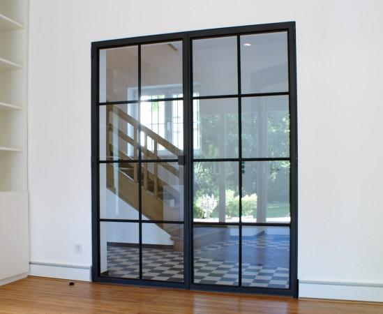 Stahl Glas Tür mit dünnem Rahmen