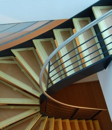 Stahlblau Treppe