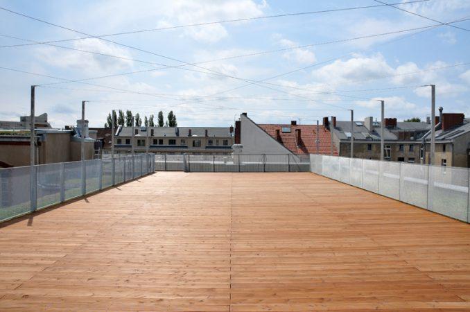 Dachterrasse Stahl Holz